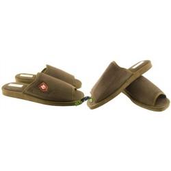 METEOR męskie rozmiar 44 sztruks klapki kapcie ciapy pantofle laczki domowe materiałowe papcie łapcie papućki odkryte palce