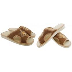 METEOR damskie rozmiar 37 klapki kapcie ciapy pantofle laczki domowe łapcie materiałowe odkryte palce Natural Style 012