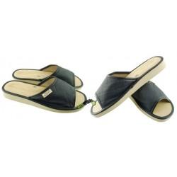 METEOR damskie rozmiar 37 skórzane klapki kapcie ciapy pantofle laczki domowe łapcie papcie odkryte palce