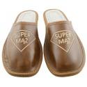 Męskie SUPER MĄŻ rozmiar 41 klapki kapcie ciapy laczki góralskie pantofle domowe łapcie papcie zakryte palce