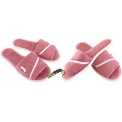 METEOR damskie rozmiar 41 frotte frotki klapki kapcie ciapy pantofle laczki domowe łapcie odkryte palce Natural Style