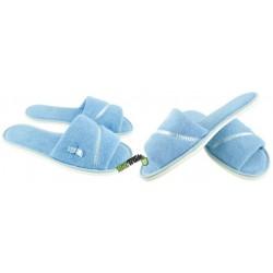 METEOR damskie rozmiar 40 frotte frotki klapki kapcie ciapy pantofle laczki domowe łapcie odkryte palce Natural Style