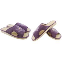 METEOR damskie rozmiar 38 klapki kapcie ciapy pantofle laczki domowe łapcie materiałowe odkryte palce Natural Style 012