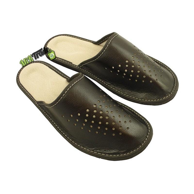 a7eb6fff5ffd1 ... Męskie skórzane rozmiar 45 klapki kapcie ciapy laczki góralskie  pantofle domowe łapcie papcie zakryte palce