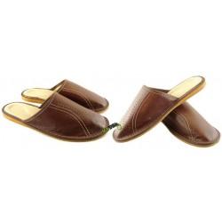 Męskie skórzane rozmiar 42 klapki kapcie ciapy laczki góralskie pantofle łapcie papcie domowe zakryte palce