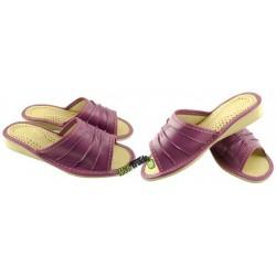 Damskie skórzane rozmiar 38 klapki kapcie ciapy laczki góralskie pantofle papcie łapcie domowe odkryte palce