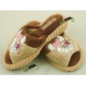 METEOR damskie rozmiar 38 materiałowe papcie laczki papućki łapcie pantofle ciapy