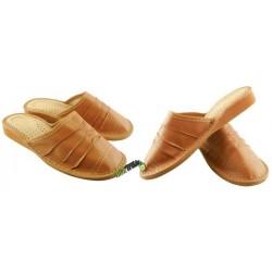 Damskie skórzane rozmiar 41 klapki kapcie ciapy laczki pantofle papcie góralskie łapcie domowe zakryte palce