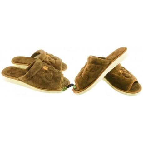 METEOR damskie rozmiar 37 frotte frotki klapki kapcie ciapy pantofle laczki domowe łapcie materiałowe papcie odkryte palce